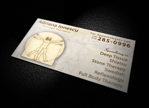 Massage Therapist Business Card Designed by Dre5 Productions