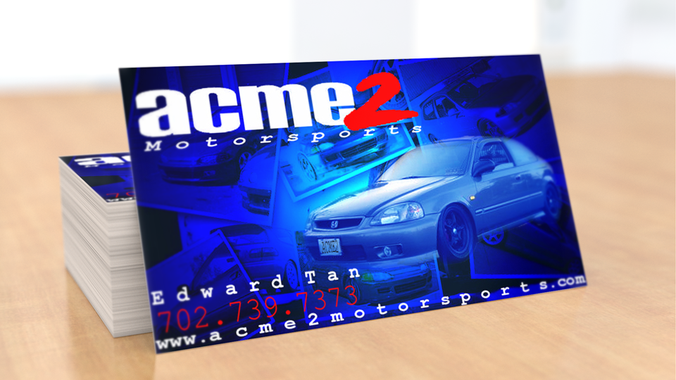 Acme 2 Motorsports Business Card Design by Dre5 Productions