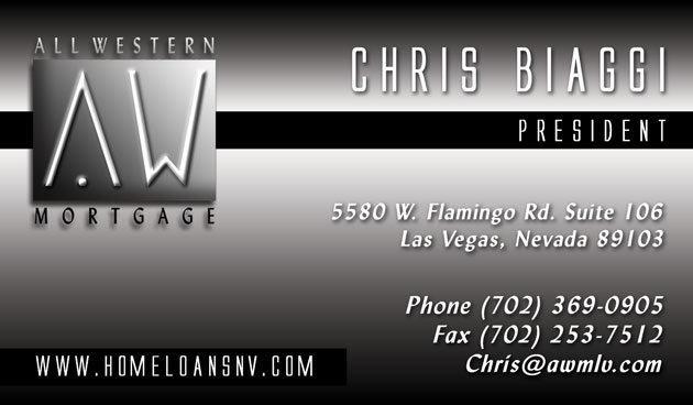 all western mortgage business cards designed by dre5 productions - Business Cards Las Vegas