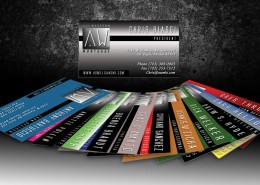 All Western Mortgage Business Cards Designed by Dre5 Productions