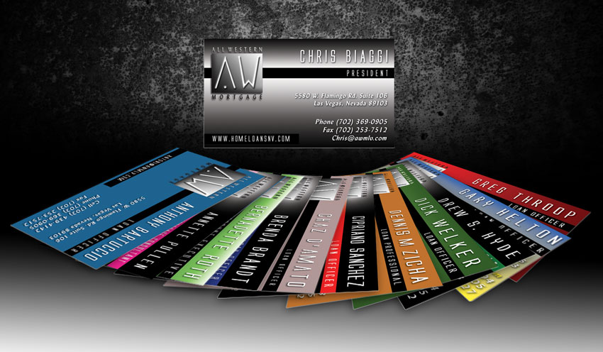 All western mortgage business cards dre5 productions las vegas all western mortgage business cards designed by dre5 productions reheart Images