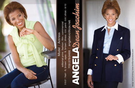 Angela Joachim Zed Card designed by Dre5 Productions