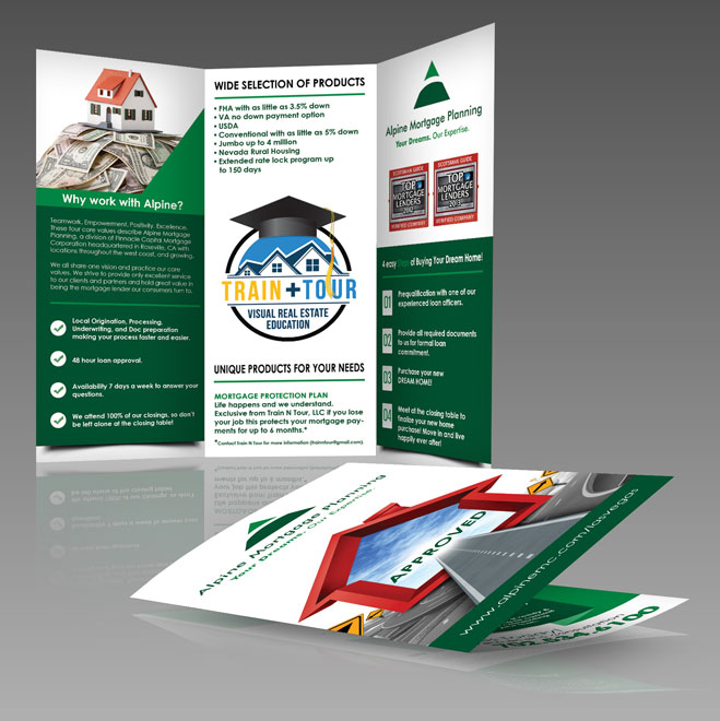 Alpine Mortgage Trifold Brochure designed by Dre5 Productions