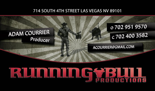 Running Bull Productions Business Cards Designed by Dre5 Productions