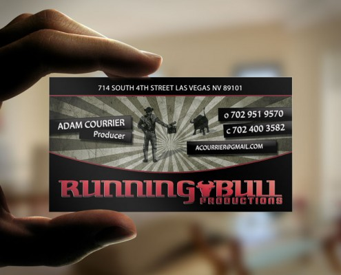 Running Bull Productions Business Cards Designed By Dre5
