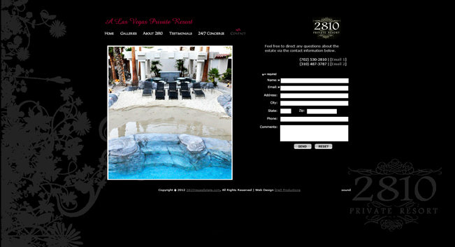 The 2810 Private Estate Website designed by Dre5 Productions