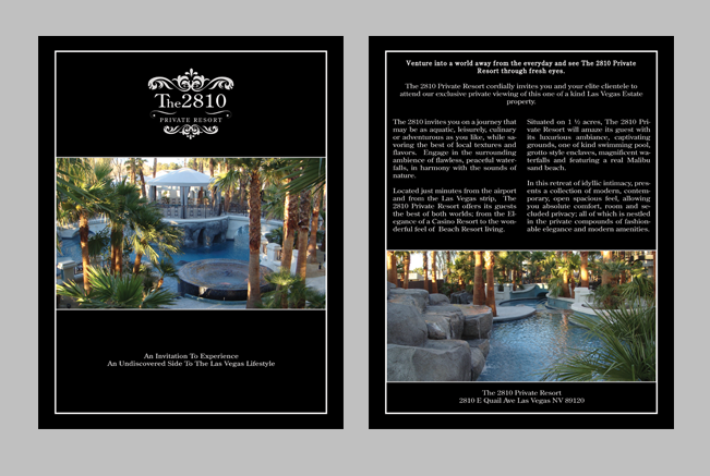 The 2810 Private Estate Brochure designed by Dre5 Productions