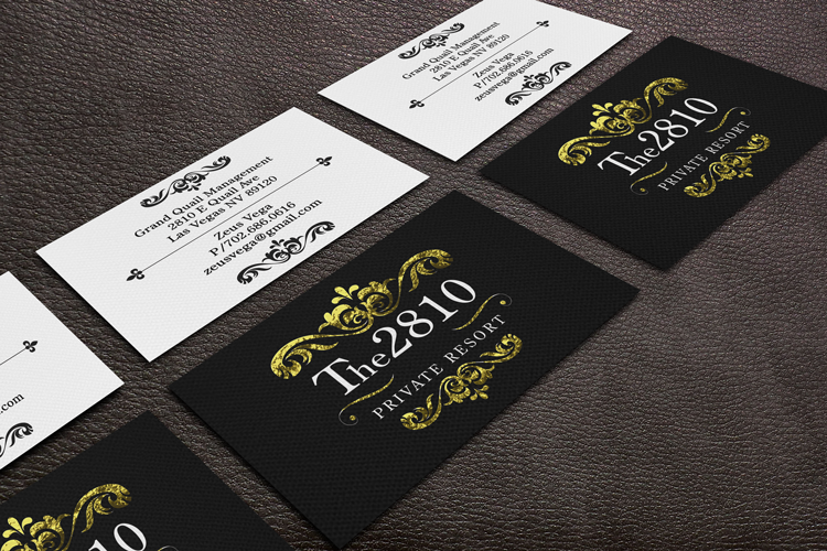 Business card design video image collections card design and the 2810 resort business cards dre5 productions las vegas video dre5 productions business card graphic design reheart Image collections