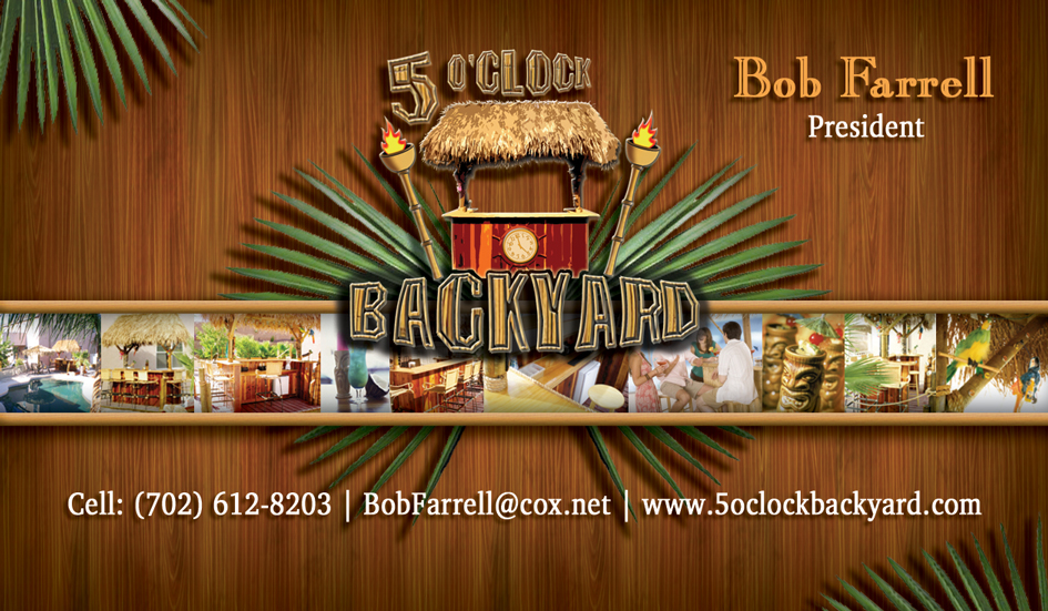 5 oclock backyards business card sample dre5 productions las vegas 5 oclock backyards business card sample reheart Images